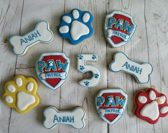 10 Paw patrol biscuits/cookies