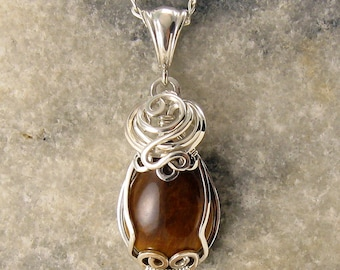 Tigers Eye Pendant - Tigers Eye Necklace - Tigereye Necklace  - Tigereye Pendant - Catseye - Tigereye Jewelry - Tigereye Jewellery
