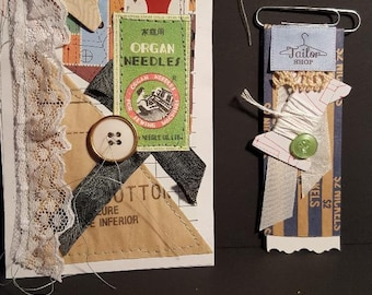 Sewing ephemera for a Junk Journal
