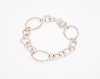 Silver textured bracelet, Flexible silver bracelet, Forged silver bracelet, Adjustable silver bracelet, Silver jewelry, Textured jewelry