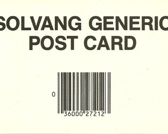 Vintage 1980s Postcard Solvang California Generic Greetings Card Funny Danish Humor Mike Roberts Continental Photochrome Era Postmarked
