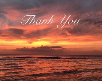 Thank You Card- Sunset - 4 x 6
