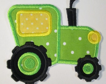 Iron On Applique - Farm Tractor Boy or Girl Styles  NEW Sizes
