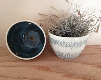 handmade planters (set of 2) | stoneware | plant pot