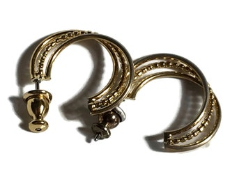 Really Nice Small Hoops, not Very Heavy Well Made Gold Tone