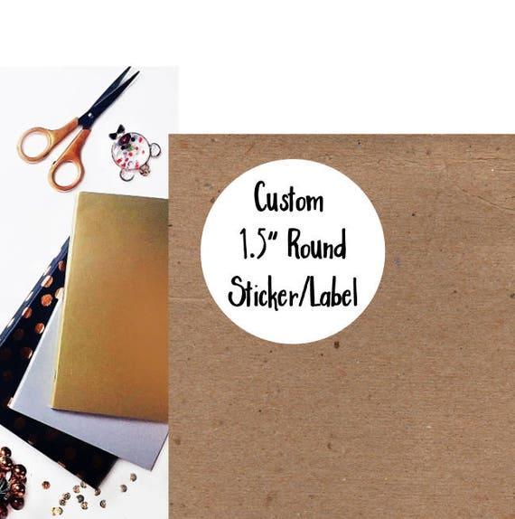 Custom Round Stickers - Custom Labels - Round Labels - Custom Clear Stickers  - Custom Stickers