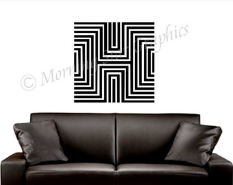 Vinyl Wall Decal OP ART Graphic (3) S-105