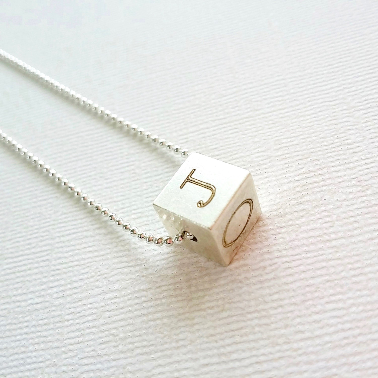 4 sides engraved necklace cube necklace personalized initials custom initial necklace mothers day gift gallery photo gallery photo aloadofball Gallery