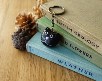 By the Shed Cat Keyring - Black Cat, Witch, Halloween, Gift, Present - Good Life - Country, Pets, Kitty, Kitten, Pussycat - Key Chain, Charm