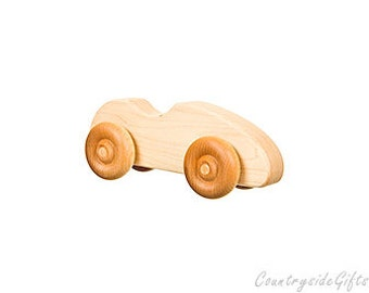 Wooden Toy Cars - Handcrafted Natural and Organic Wooden Toy Car - Hardwood Mapel Wooden Toy Sports Car - Wooden Toy Cars