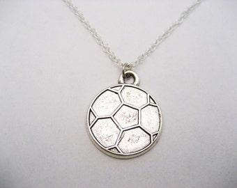 Soccer Necklace Soccer Ball Necklace  Sports Necklace Sports Jewelry Soccer Jewelry  Team Gift Ideas Soccer Player Gift