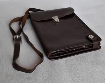 Soviet Army Officer Bag Tablet bag Messenger Bag Soviet Officer Military Bag Vintage Leather Bag Commander Map Bag Made in USSR