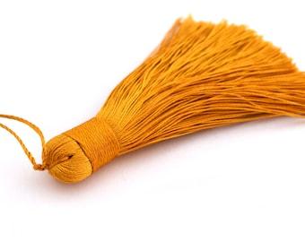 Mustard yellow Pompom 7-8 cm polyester