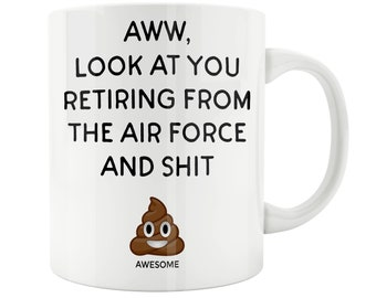 Air Force Coffee Mug, Air Force Retirement Gift, Retired Air Force Gift, Air Force Retirement Mug, Retired Airman, Funny Airman Retired