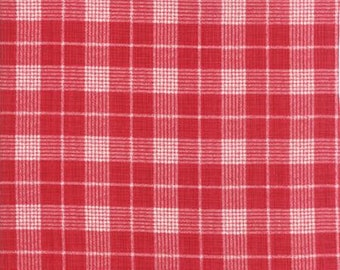 Return to Winter's Lane from Kate & Birdie -- Red Check -- 1/2 YD