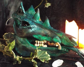 Green Dragon Skull (Large)