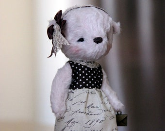 Artist teddy bear Jane - OOAK teddy bear - Stuffed toys - Handmade teddy bear - Gift ideas - Easter gift - Nursery dercor - Baby shower