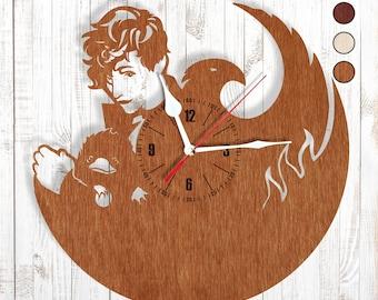 Wooden wall clock Fantastic Creatures