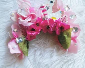 Unicorn Princess Flower Crown