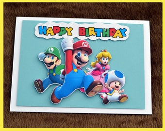 Super Mario 3d Birthday Card