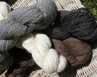 2 Skeins Deliciously Lovely Shetland Romney DK Weight Wool Sock Yarn