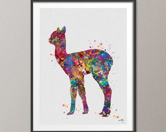 Alpaca Baby Llama Watercolor Painting Print Lama Newborn Baby Shower Gift For Kids Nursery Wall Art Decor Kids Room Decor Wall Hanging-366