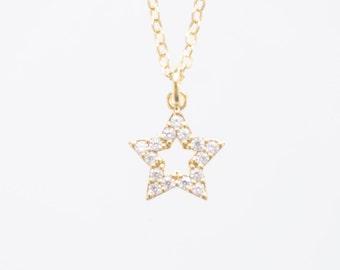 Raw Custom Celestial Necklace Necklace Star Necklace Minimal Necklace Modern Necklace Gold Necklace Girlfriend Gift Birthday Gift Minimal