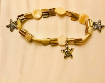 Stars Shell and Mother of Pearl Bracelet