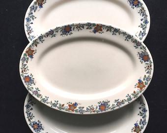 "Iroquois Diner Restaurant Hotel China 9-3/8"" Iro-Tan Oval Platter ""Autumn Vine"" Pattern"