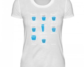High quality ladies organic shirt-water glass-optimist