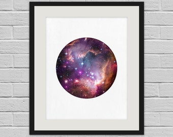 Under the Wing of the Small Magellanic Cloud - Hubble Space Wall Art Poster and Canvas Print