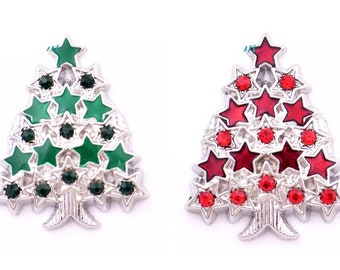 Christmas Tree Snap Button 18 mm