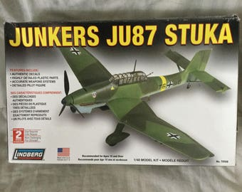Lindberg 70508 Junkers JU87 Stuka 1/48 Model Kit Level 2 New in opened box