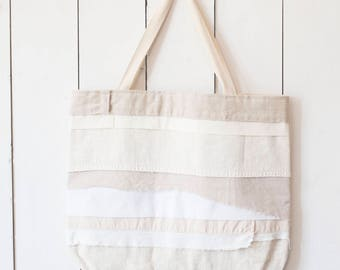 Upcycled One-Of-A-Kind Scrappy Tote Bag 4