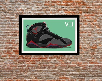 Illustration print - Jordan 7 of my Jordan sneakers series