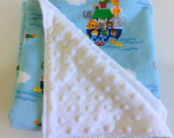 SALE!! Baby Blanket~Baby Shower Gift~New Mum gift~Pram blanket~Nappy bag~Play mat~Animal Blanket~Noah's Ark Blanket