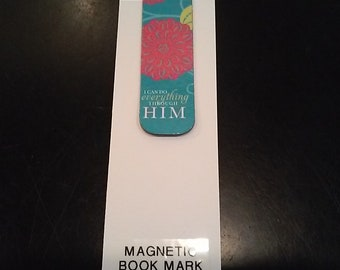 Magnetic Book Mark- I can do everything...