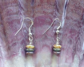 Earrings - Petite earrings - Sterling silver earrings - Round earrings - Beach earrings - Beach gift -