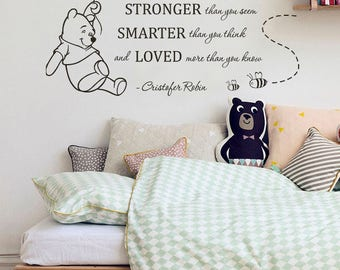 Marvelous Pooh Wall Decal | Etsy