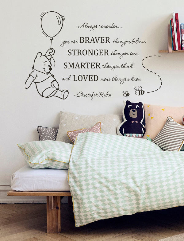 You Are Braver Than You Believe Pooh Quote Decal Wall Decal Winnie The Pooh.