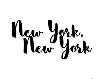 New York Decal Etsy - Custom vinyl stickers nyc