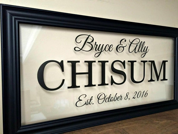 Personalized Couple Couples Gift Wedding Gift Last Name Sign