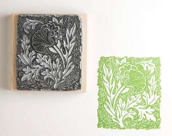 Preraphalite Flower Rubber Stamp