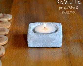 Candle holder-P' little square white