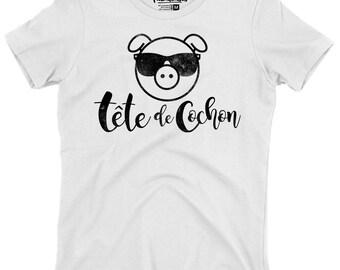 Pig head - round neck T-Shirt