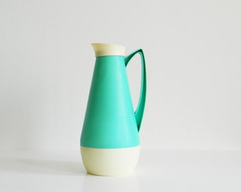 Vintage Minty Green Pitcher / Retro Coffee Thermos / Vintage Pastel Serving Pitcher