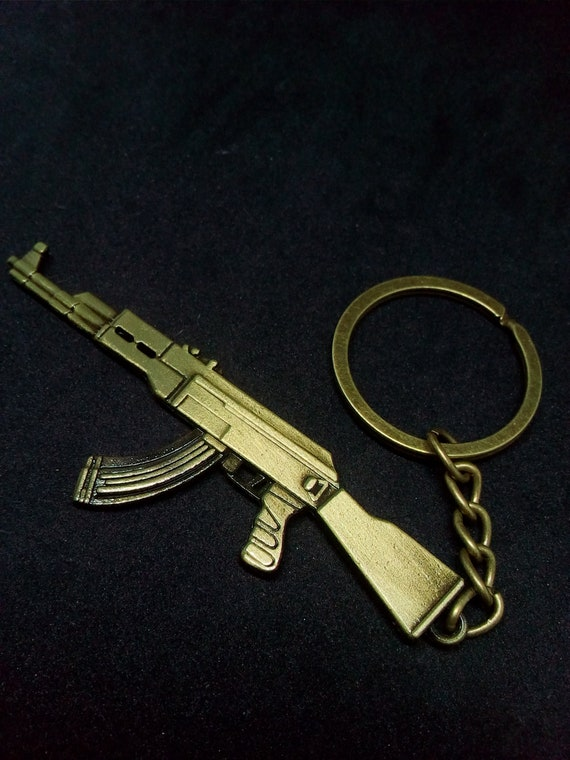 Gold Plated Type AK 47 Kalashnikov Assault Rifle Gangster