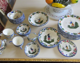 USA BLUE RIDGE Southern Potteries Dinner China