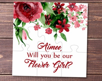 Will you be my bridesmaid card gift Bridesmaid proposal bridesmaid puzzle Ask bridesmaid Bridal Party invitation jigsaw Flower girl puzzle