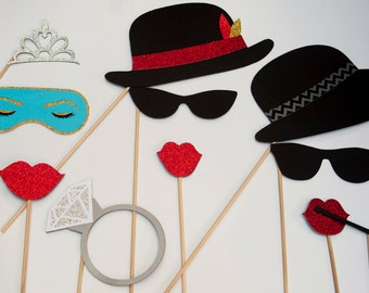 Breakfast at Tiffany's Photo Booth Props 11 Pieces PB001